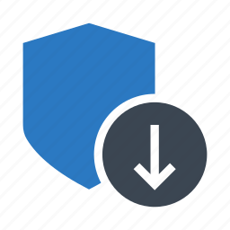 download, protection, safety, security, shield icon