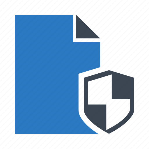 Document, file, protection, security, shield icon - Download on Iconfinder