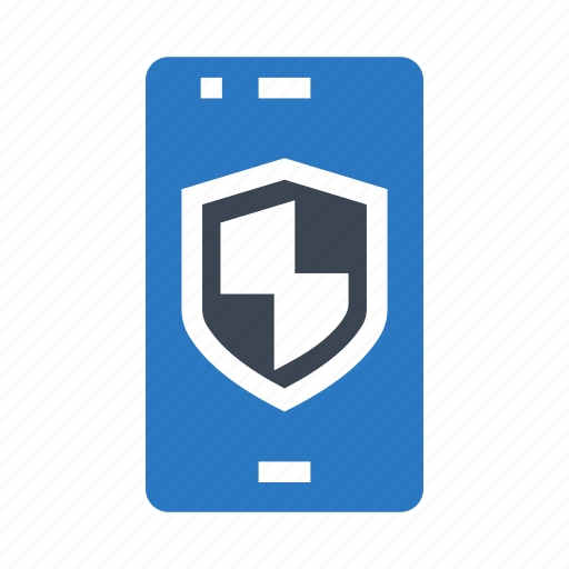 mobile, phone, protection, safety, shield icon