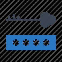 key, lock, password, portection, security icon