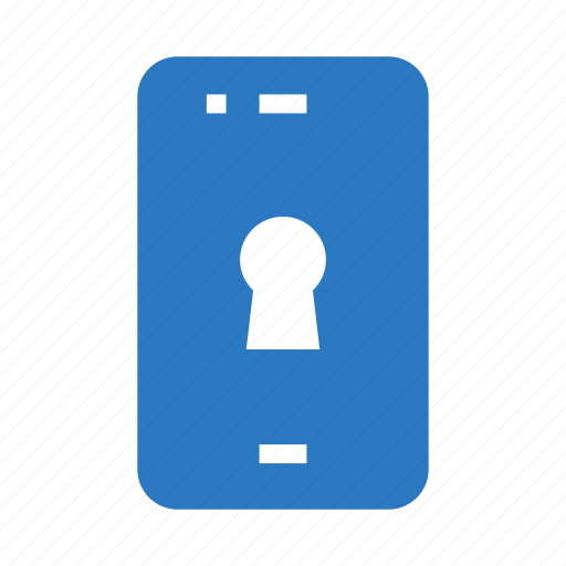 lock, mobile, phone, protection, security icon