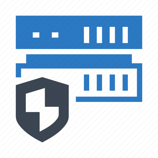 protection, security, server, shield, storage icon