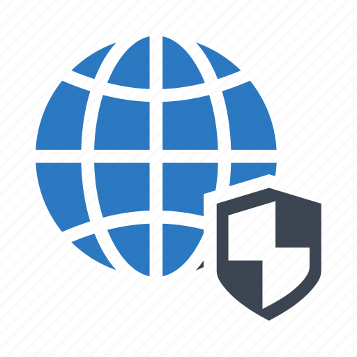 globe, protection, security, shield, world icon