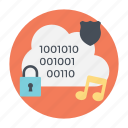 cloud computing, cloud data, data management, data security, data storage icon