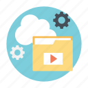 cloud backup, cloud computing, cloud data, cloud services, online storage icon