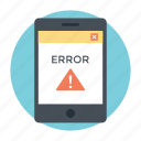 computing error, debugging, error code, return code, warning icon