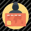 banking fraud, credit card fraud, debit card, internet fraud, online scamming icon