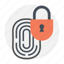 authentication, authorization, biometric, fingerprint unlock, sensor icon
