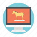 malware, spyware, trojan, trojan horse, virus icon