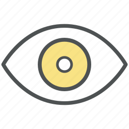 eye, onlooker, view, visibility, visible, vision, watcher icon
