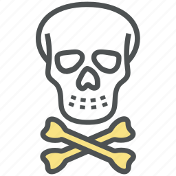 danger, danger warning, dead, hazard, skull, skull and crossbones, toxic icon