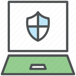 antivirus, computer defending, computer security, data security, laptop, pc security, reliability icon