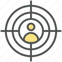 crosshair, focusing target, human target, marketing, seo target, target person icon