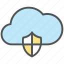 cloud computing, cloud internet, cloud security, data storage, defend, internet service, reliability icon