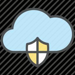 cloud computing, cloud internet, cloud security, data storage, defend, internet service, reliability icon