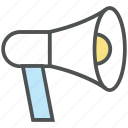 advertising, alert, announcement, bullhorn, loudspeaker, megaphone icon