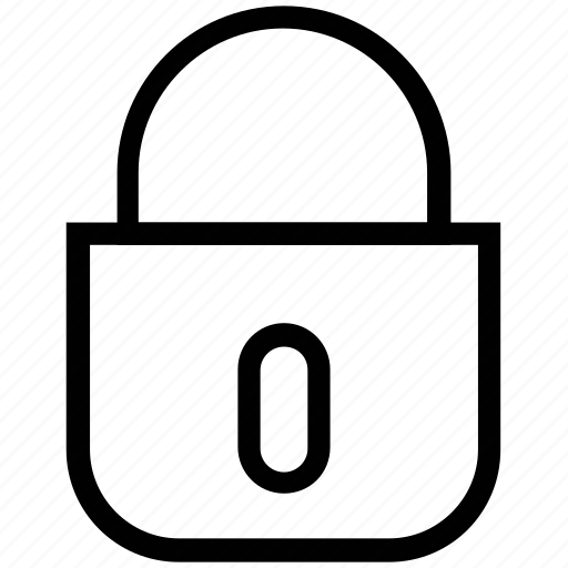 closed, door lock, lock, padlock, padlocked, secured icon