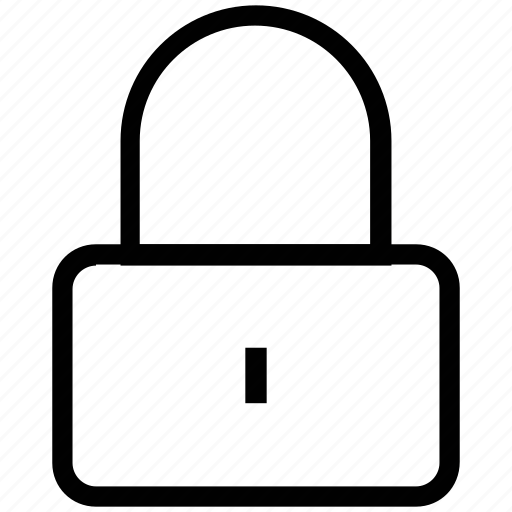 closed, door lock, lock, padlock, padlocked, secured icon