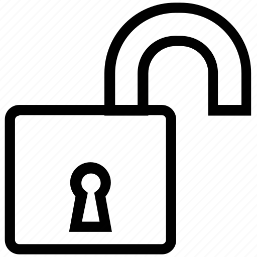 door lock, lock open, security element, unlock, unlocked icon