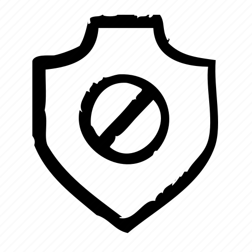 deactivate, protection, safety, secure, security, shield icon