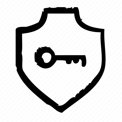 key, protection, safety, secure, security, shield icon