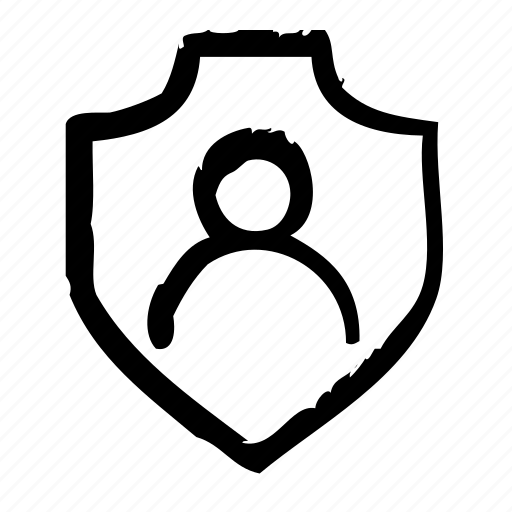 account, person, protection, safety, secure, security, shield icon