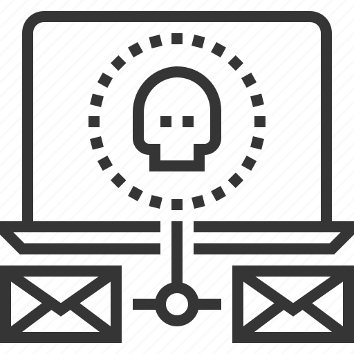 attack, domain, internet, mail computer, network, security, spoof test icon