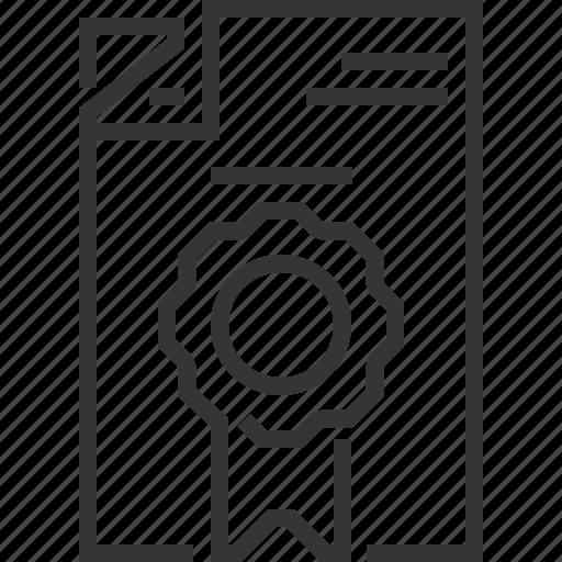 badge, document, guarantee, security icon