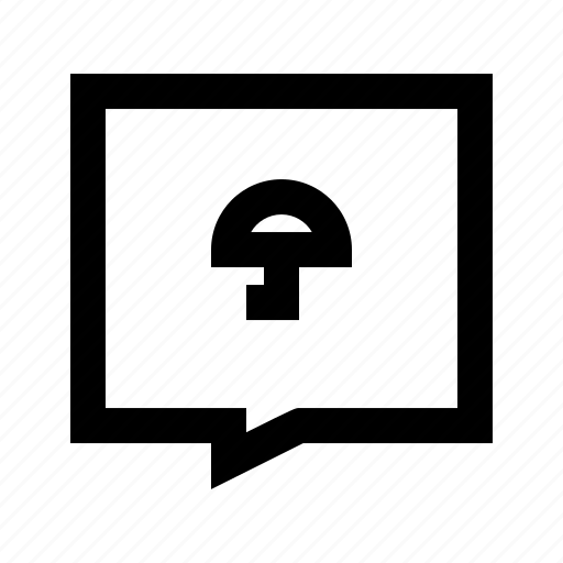 chat, protect, protection, secure, umbrella icon