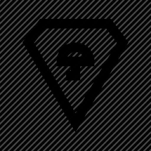diamond, protect, protection, secure, umbrella icon