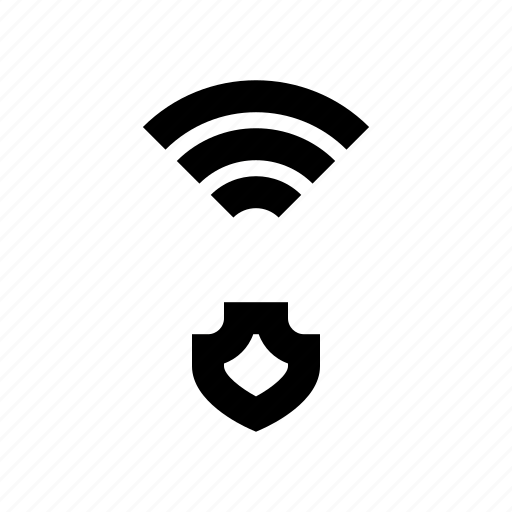 protect, protection, secure, shield, wifi icon