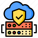 cloud, database, protect, server, shield