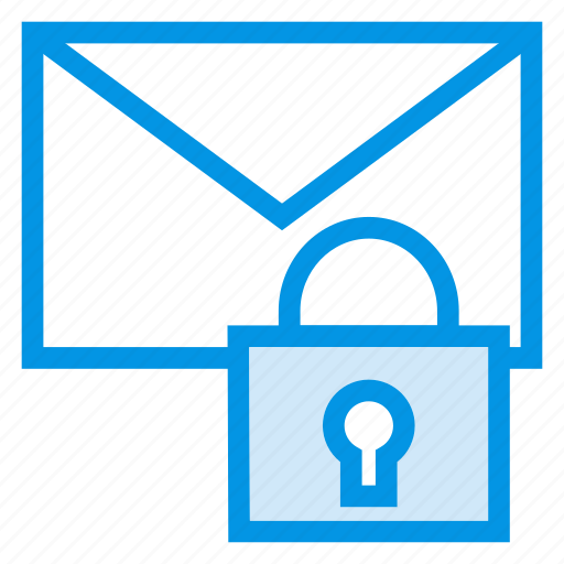 email, envelope, lock, message icon