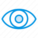 eye, eyeball, view, watch icon
