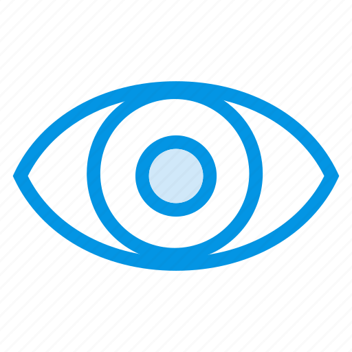 eye, eyeball, view, watch icon