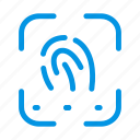 biometric, finger, fingerprint, identity, thumb icon