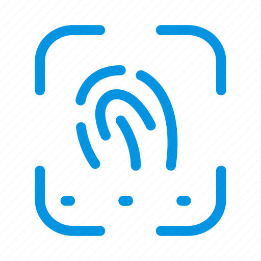 biometric, finger, fingerprint, identity, thumb icon