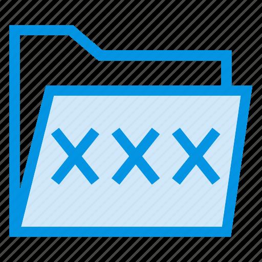 folder, folderlock, password, protection icon