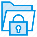 folder, lock, protect, security icon