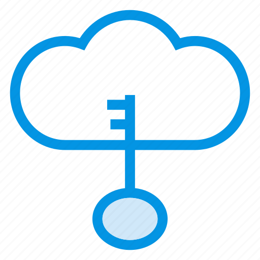 cloud, key, protection, security icon