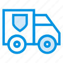 bank, security, transport, van icon