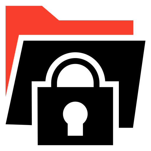 folder, lock, protect, security icon