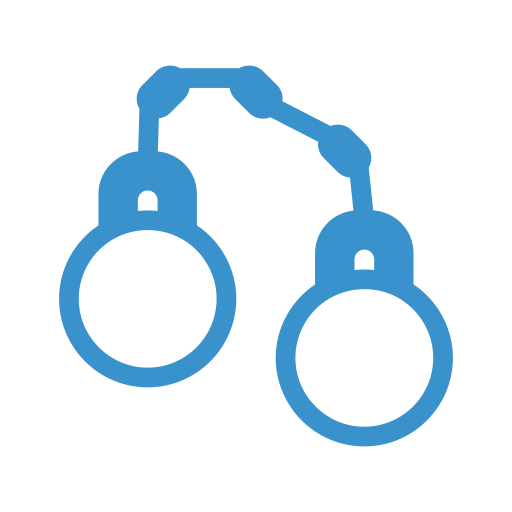 arrest, handcuffs, police, protection icon