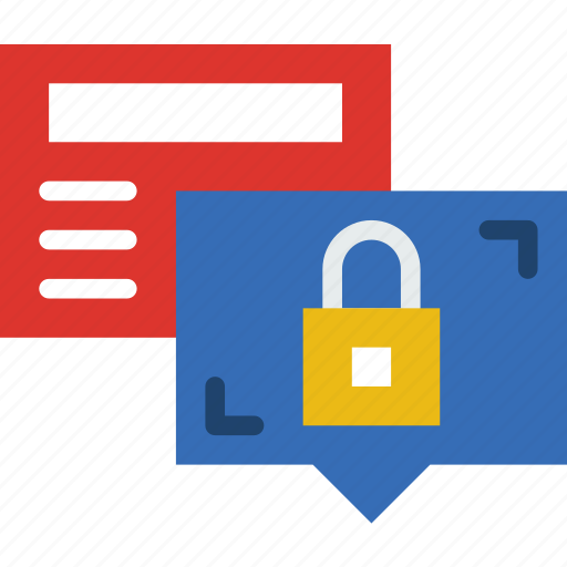 business, conversation, locked, police, secure, security icon