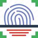 business, fingerprint, police, scanner, secure, security icon