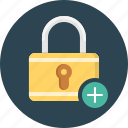 lock, add, secure, locked icon