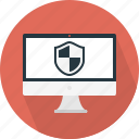 computer, shield, monitor, web