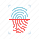 fingerprint, id, identity, privacy, scan, security, technology icon