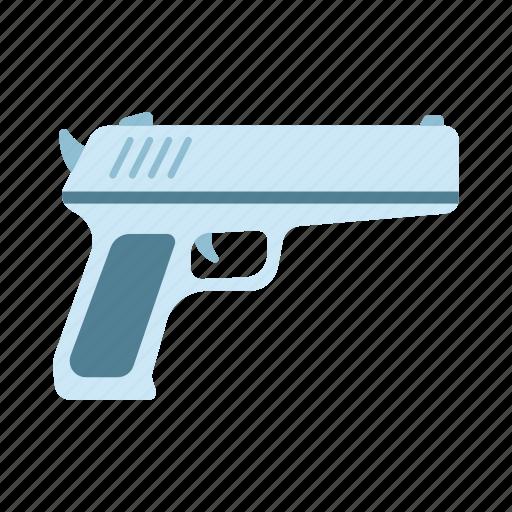 attack, crime, firearm, gun, handgun, pistol, weapon icon