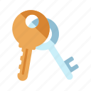 access, door, keys, safe, security, sign, unlock icon